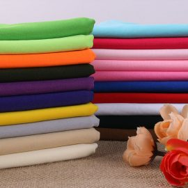 Wholesale solid double brushed poly knit fabric in-stock