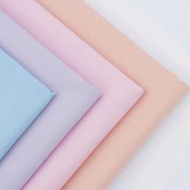 Wholesale solid twill cotton poplin woven fabric in-stock 60s