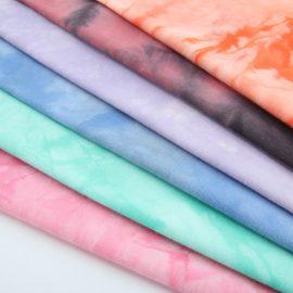 Wholesale tie dye cotton lycra fabric in-stock